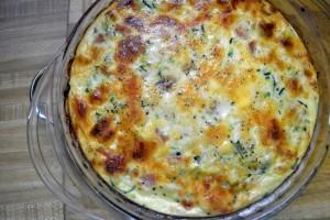 Crustless Chicken Divan Quiche