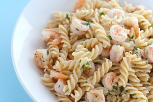 Almond Coated Shrimp & Pasta