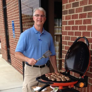 Dr. Clark at the grill