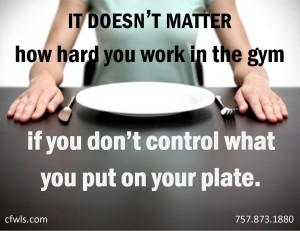 on your plate