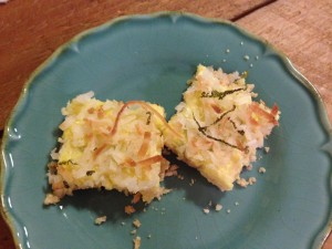 lime and coconut bars