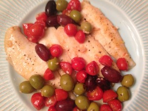 cfwls flounder with tomatoes and olives