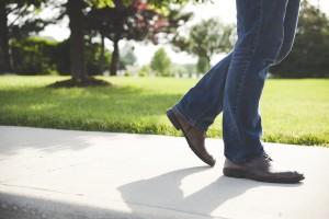 feet on sidewalk