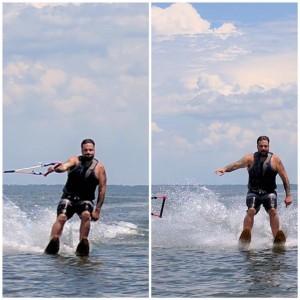 Allen Fabijan water skiing