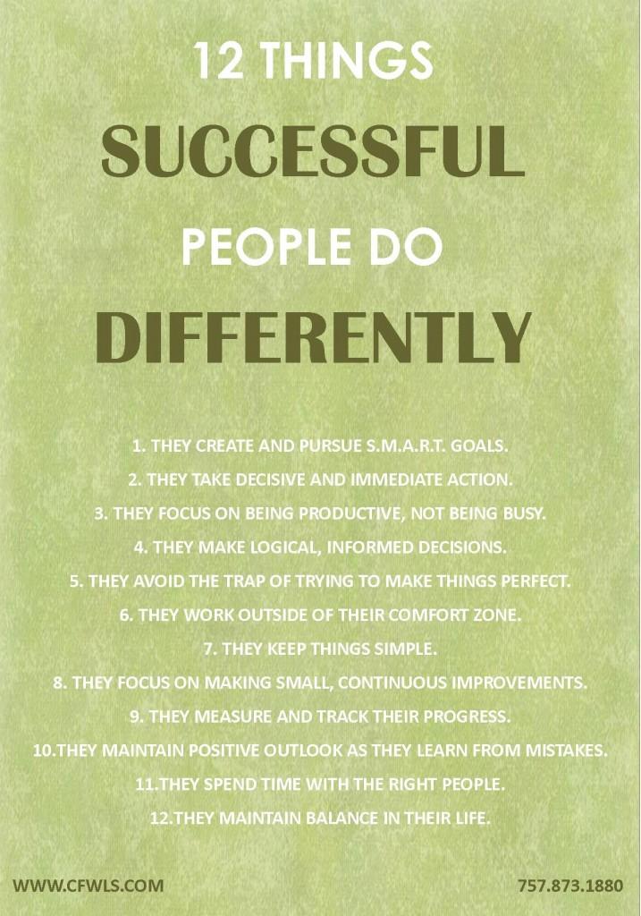 SUCCESSFUL PEOPLE DO